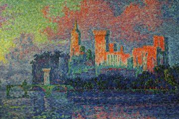 """Поль Синьяк """"Папский дворец в Авиньоне"""". 1900 г."""
