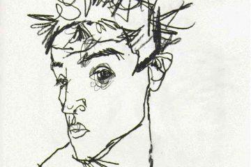 Эгон Шиле. Автопортрет. 1913. Бумага, карандаш. Национальный музей, Стокгольм.