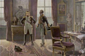 Свидание Наполеона и князя Меттерниха в Дрездене в 1813 г.