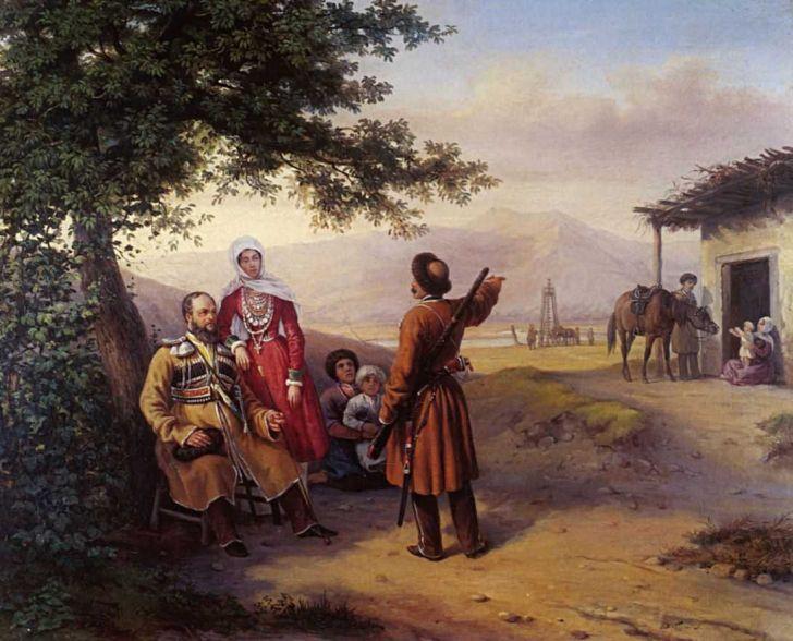 Г.Гагарин. «Портрет В.И. и В.А.Арнаутовых», 1840-е. Самарский областной художественный музей, Самара
