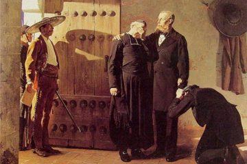 Жан-Поль Лоран (Jean-Paul Laurens). Последние минуты императора Максимилиана, 1882. Эрмитаж, Санкт-Петербург