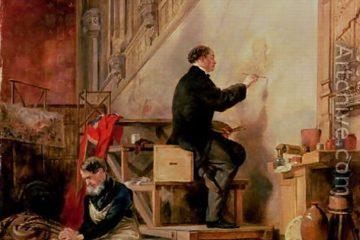 Джон Баллантайн. Даниел Маклайз пишет фреску «Смерть Нельсона», 1865. Roy Miles Fine Paintings, Лондон