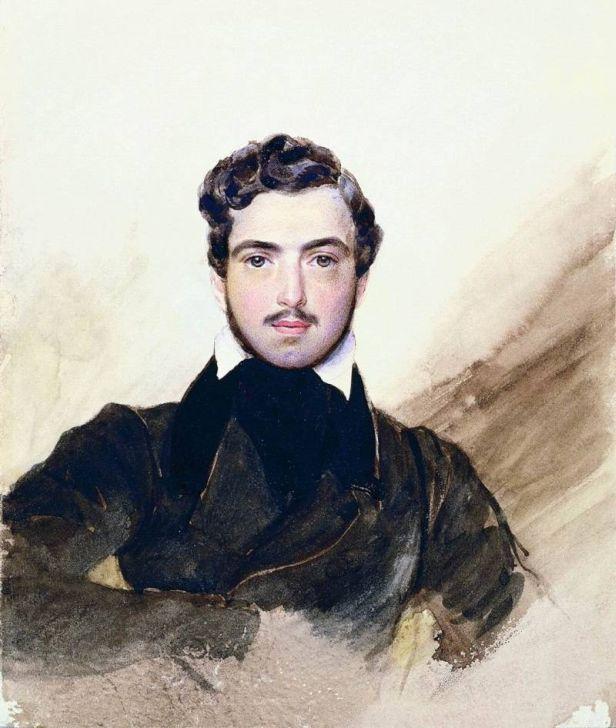 Князь Гагарин Григорий Григорьевич. Автопортрет, 1840-е. Государственный Исторический музей, Москва