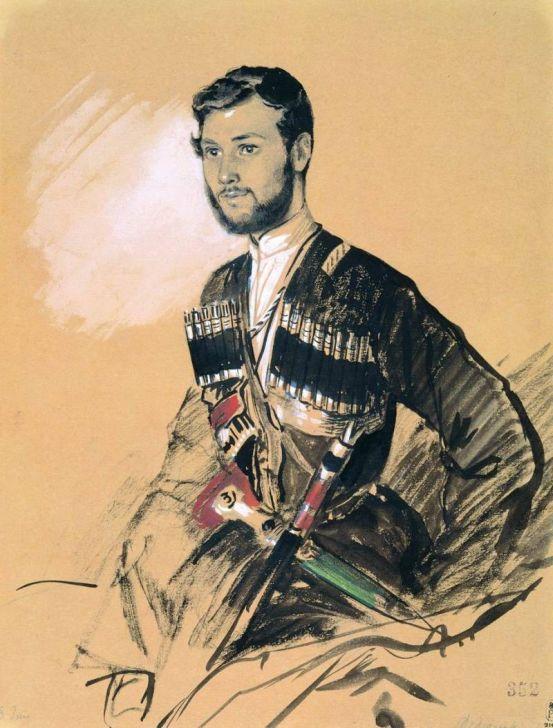 Г.Гагарин. Казак Федюшкин. Музей Александра III (Государственный Русский музей), Санкт-Петербург