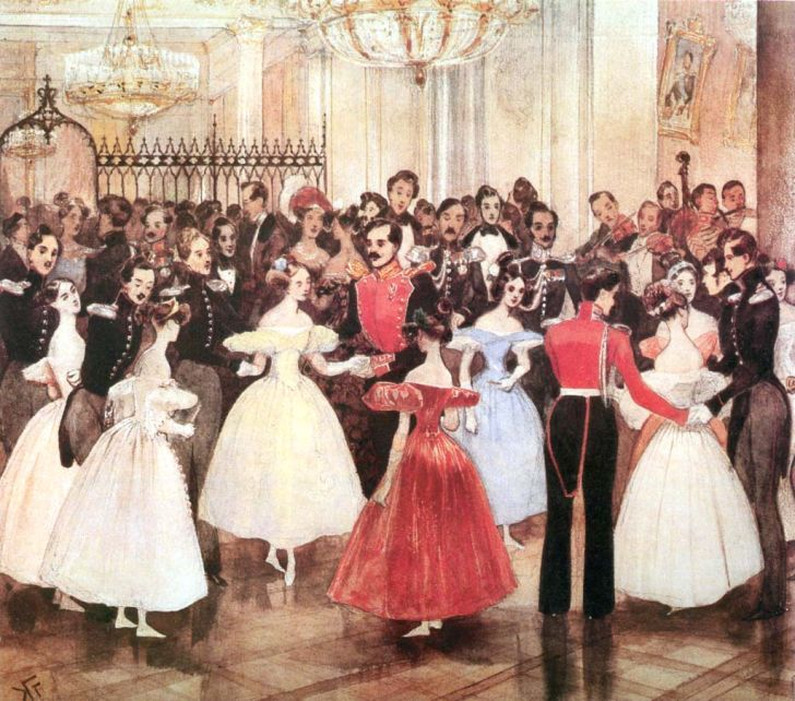 """Г.Гагарин. """"Бал у княгини М.Ф Баратянской"""", 1834"""