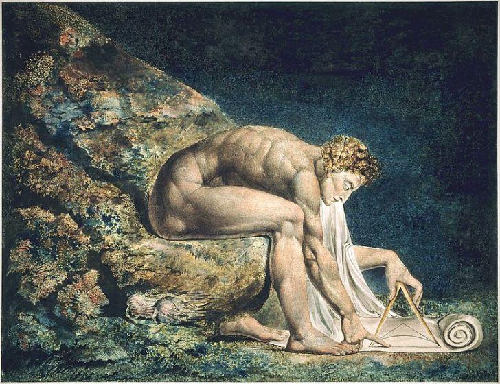 Уильям Блейк. Ньютон в образе античного божественного геометра. 1795