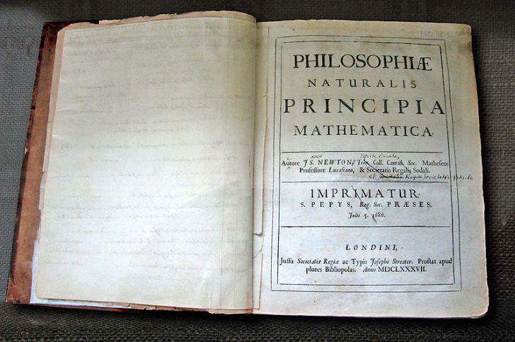 Титульный лист «Начал» Ньютона, 1687