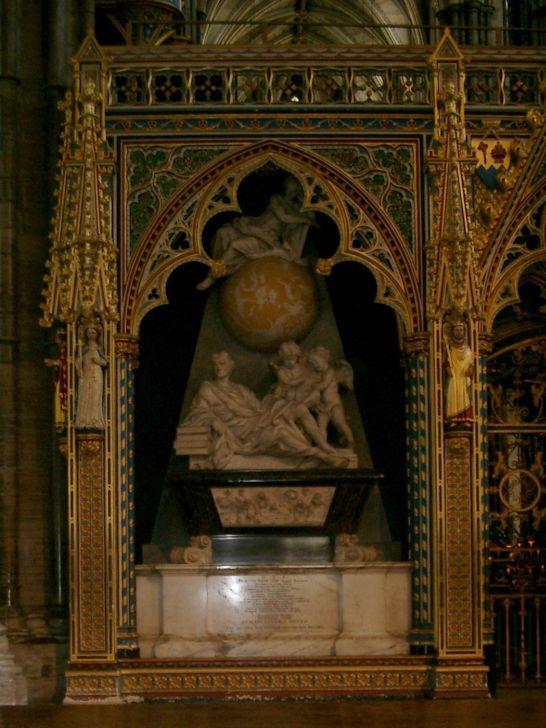 Надгробие Ньютона. Вестминстерское аббатство.