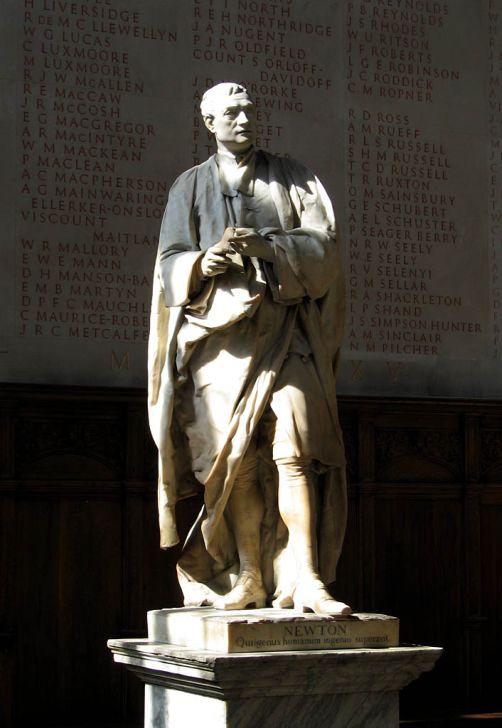 Рубильяк. Статуя Ньютона в Тринити-колледже, 1755