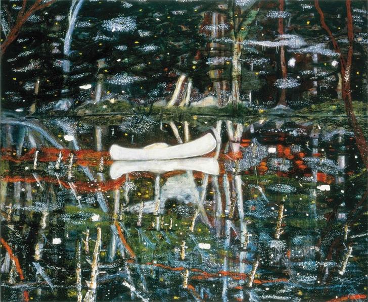 Петер Дойг. Белое каноэ (White Canoe), 1990-91