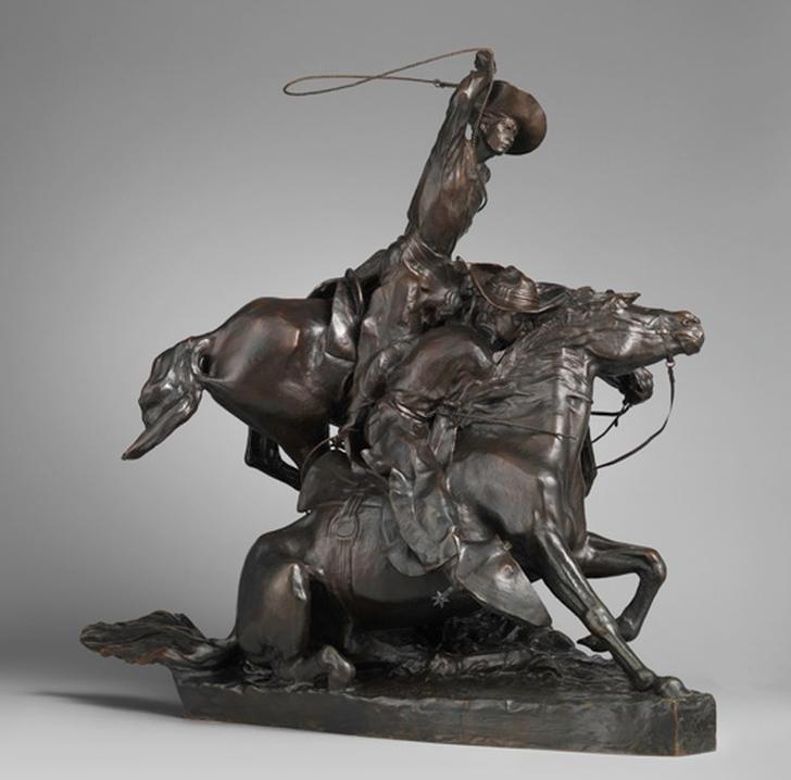 Солон Ганнибал Борглум. Ловля диких лошадей с помощью лассо (Lassoing Wild Horses), 1898