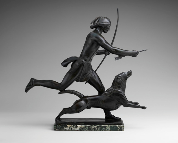 Пол Маншип. Индейский охотник с собакой (Indian Hunter and His Dog), 1926
