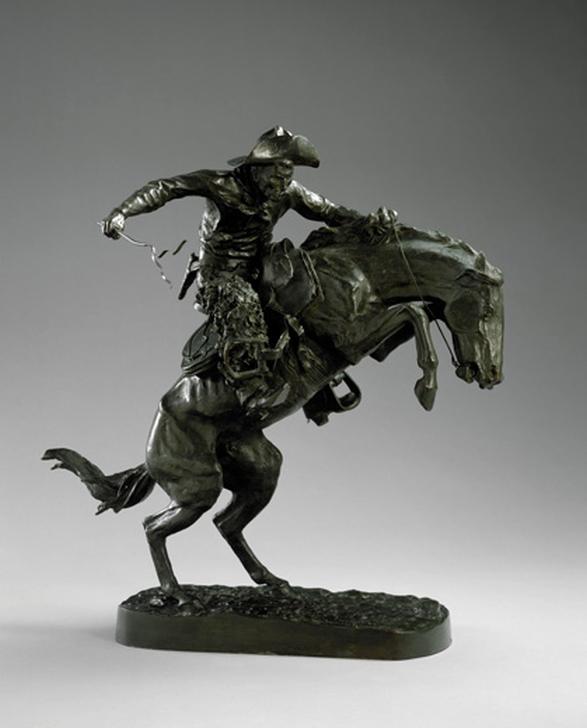 Фредерик Ремингтон. Объездчик диких лошадей (The Broncho Buster), 1895