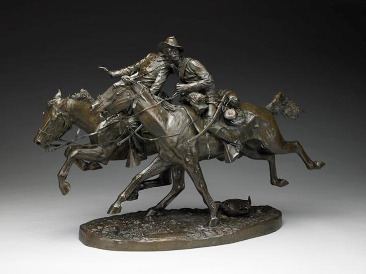 Фредерик Ремингтон. Раненный товарищ. (The Wounded Bunkie), 1896