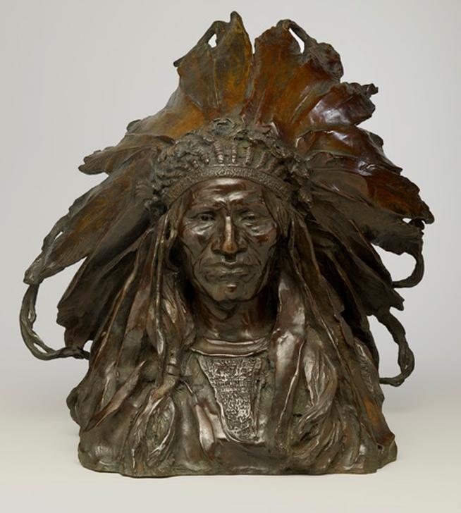 Адольф Александер Вейнман. Вождь Черная птица, племя Огала-Сиу (Chief Blackbird, the Ogalla Sioux), 1903
