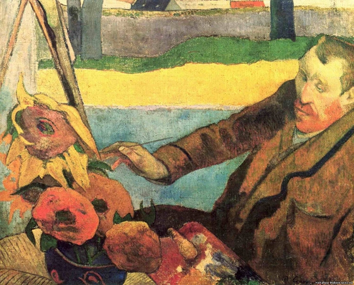 Поль Гоген. Портрет Винсента ван Гога, рисующего подсолнухи, 1888
