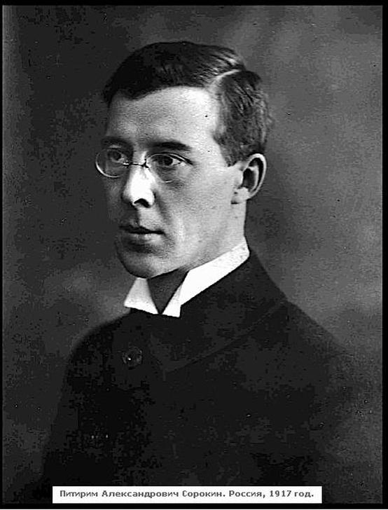 Питирим Сорокин. Фото 1917 г. Петроград.