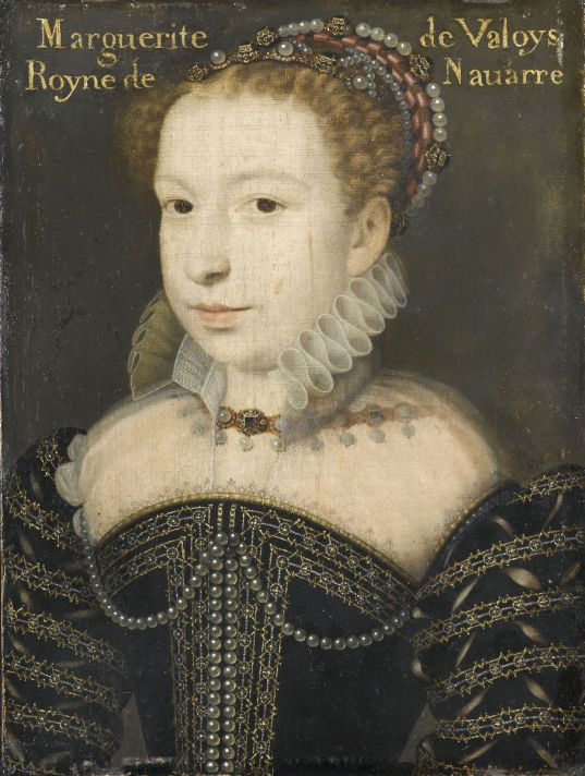 Франсуа Клуэ (1515-1572). Портрет Маргариты де Валуа, королевы Наварры. Около 1575 г. Масло, дерево. 29 х 22,5 см. Музей Конде, Замок Шантийи, неподалеку от Парижа.
