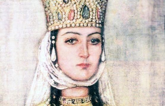 Царица Тамара Великая. Фреска. XIX век.