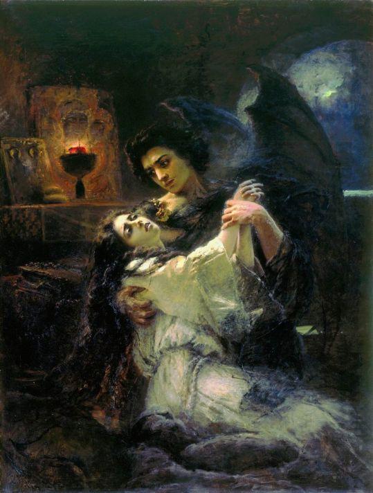 Константин Егорович Маковский (1839–1915). Тамара и Демон. 1889.