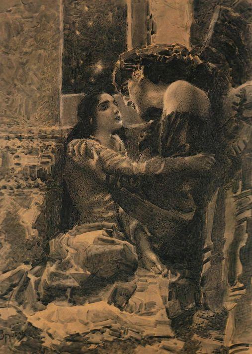Михаил Александрович Врубель (1856–1910). Тамара и Демон. 1890. Москва, Государственная Третьяковская Галерея.