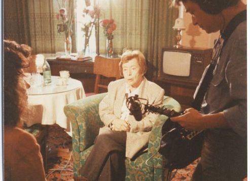 Нина Берберова во время посещения Советского Союза. 1989.