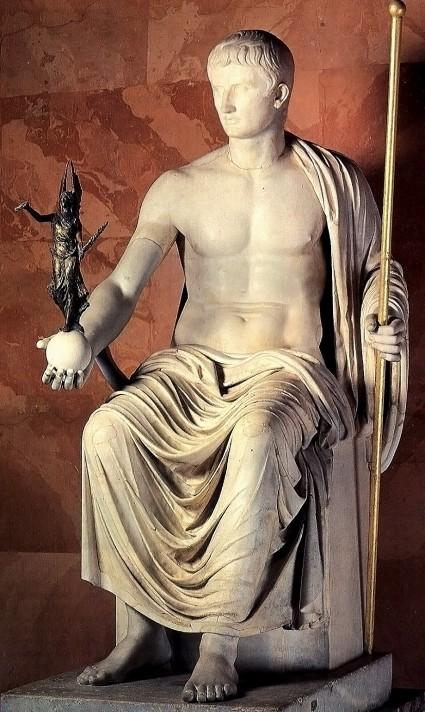 Неизвестный автор. Октавиан Август в виде Юпитера. 1 в. н.э. Государственный Эрмитаж, Санкт-Петербург.
