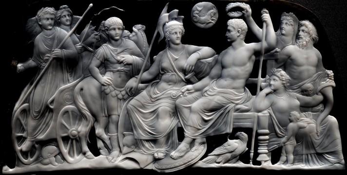 Гемма Августа. Верхний регистр. Ок. 12-7 гг. до н.э. Оникс. 18х23 см. Музей истории искусств, Вена.