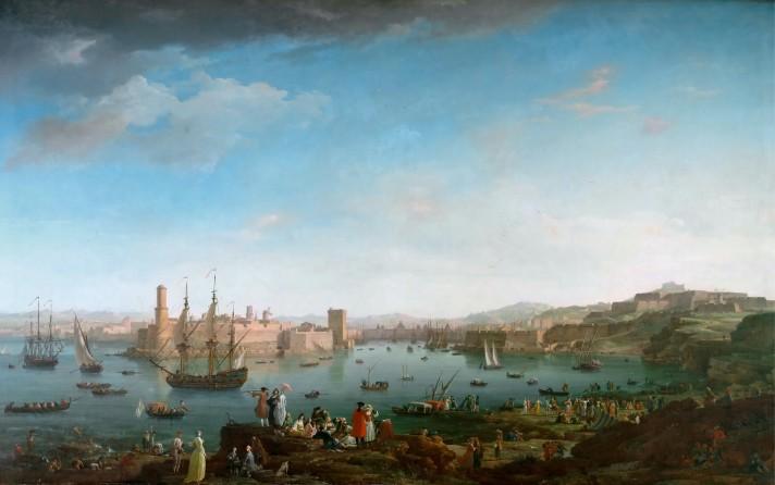 Клод Жозеф Верне (1714–1789). Вид на порт Марселя. Между 1754 и 1762. Лувр, Париж.