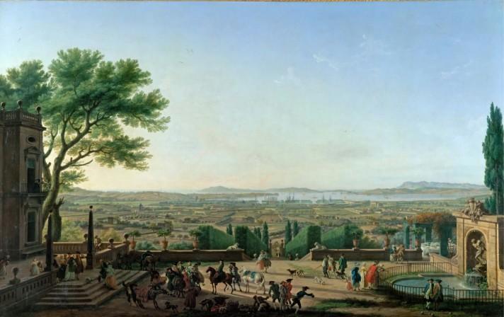 Клод Жозеф Верне (1714–1789). Вид на Тулон и гавань. Между 1754 и 1762. Лувр, Париж.