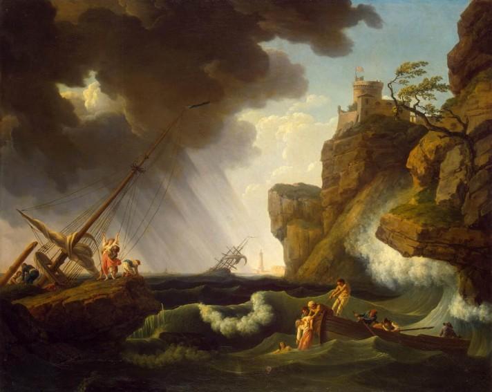 Клод Жозеф Верне (1714–1789). Кораблекрушение. 1763. Холст, масло. 102х126 см. Государственный Эрмитаж, Санкт-Петербург.