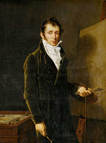 Робер Лефевр (1755–1830). Портрет Шарля Верне. 1804. Холст, масло. 129,5х97,5. Лувр, Париж.