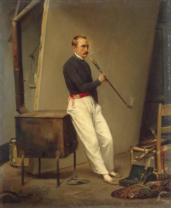 Жан Орас Верне (1789–1863). Автопортрет. 1835. Холст, масло. 47х39 см. Государственный Эрмитаж, Санкт-Петербург.