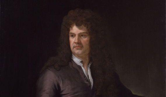 Годфри Неллер (1646-1723). Портрет Гринлинга Гиббонса. 1690. Холст, масло. 125х90 см. Государственный Эрмитаж, Санкт-Петербург.