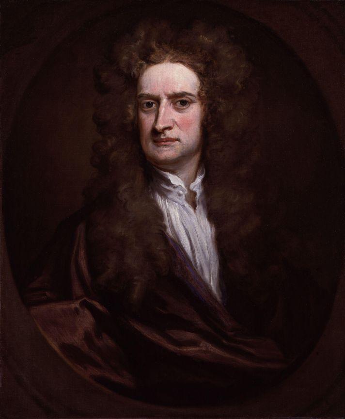 Годфри Неллер (1646-1723). Портрет сэра Исаака Ньютона. 1702. Холст, масло. 75,6х62,2 см. Национальная портретная галерея, Лондон.