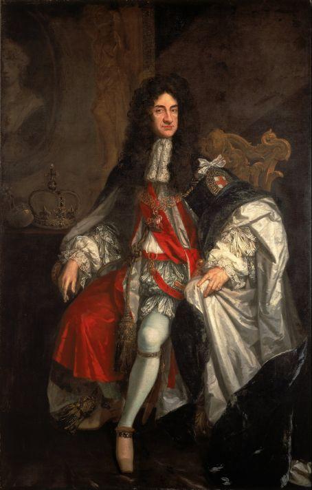 Годфри Неллер (1646-1723). Портрет Короля Карла II. Холст, масло. 244,8х144,2 см. Картинная Галерея Уолкер, Ливерпуль.
