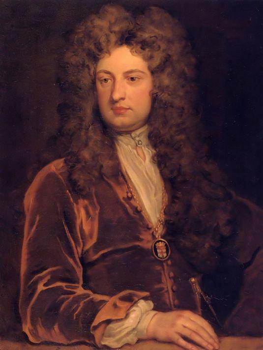 Годфри Неллер (1646-1723). Портрет сэра Джона Ванбруга. 1704-1710. Холст, масло. 91,4х71,1 см. Национальная портретная галерея, Лондон.