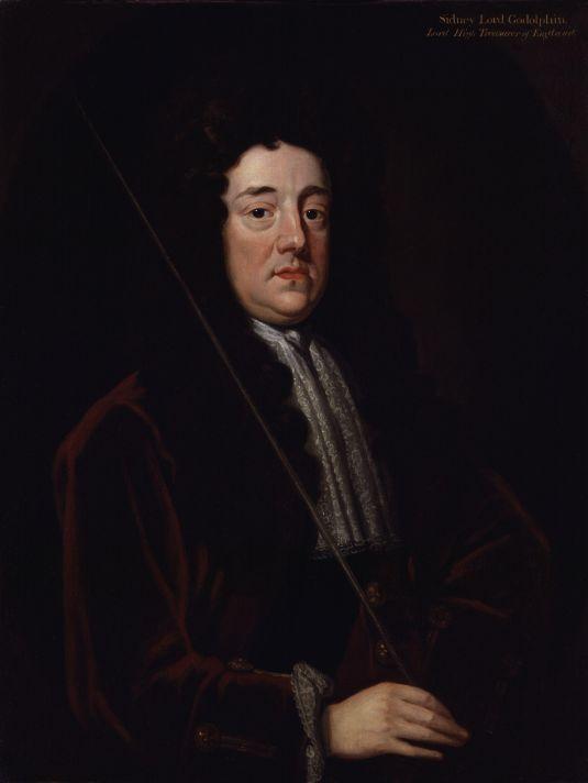Годфри Неллер (1646-1723). Портрет графа Сидни Годольфина. 1723. Холст, масло. Национальная портретная галерея, Лондон.