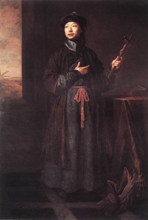 Годфри Неллер (1646-1723). Портрет китайского миссионера. 1687. Холст, масло. 212,1х132 см. Королевская коллекция, Виндзор.