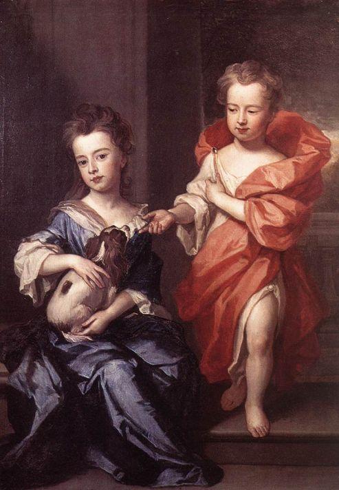 Годфри Неллер (1646-1723). Портрет Эдварда и леди Мэри Говард. 1687. Холст, масло. Картинная галерея Далвич, Лондон.