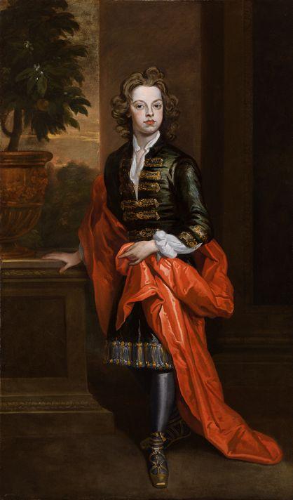 Годфри Неллер (1646-1723). Портрет юноши. Около 1700. Холст, масло. 190,5х11,8 см.