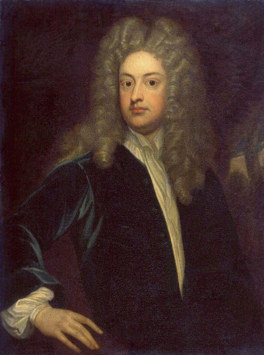 Годфри Неллер (1646-1723). Портрет Джозефа Эддисона. Холст, масло. 88,9х67,3 см. Национальная портретная галерея, Лондон.