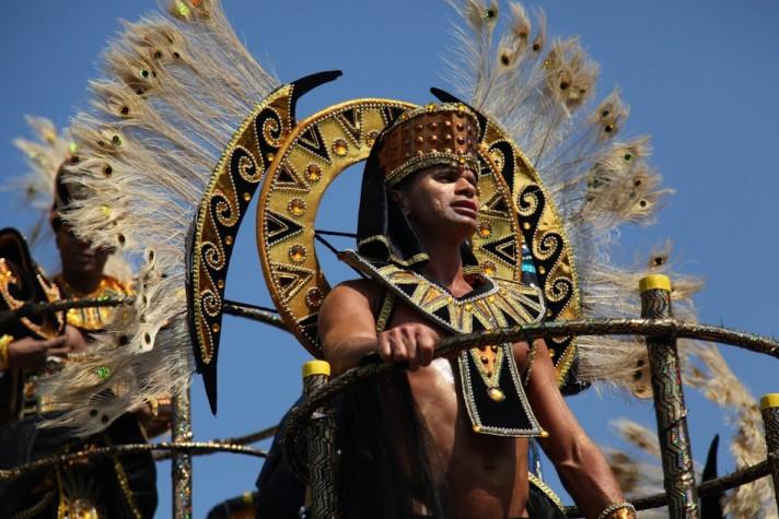 Участники Ноттинг-Хиллского карнавала. Лондон.