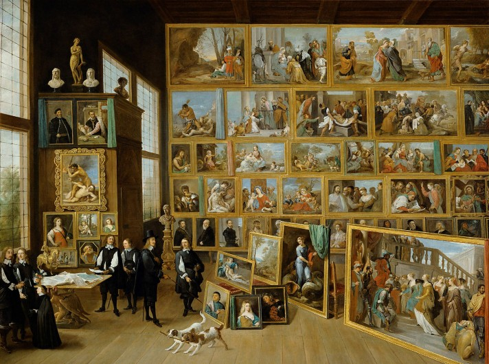 Давид Тенирс Младший (1610–1690). Эрцгерцог Леопольд Вильгельм в своей картинной галерее. Около 1651. Масло, холст. 123х163 см. Музей истории искусств, Вена.