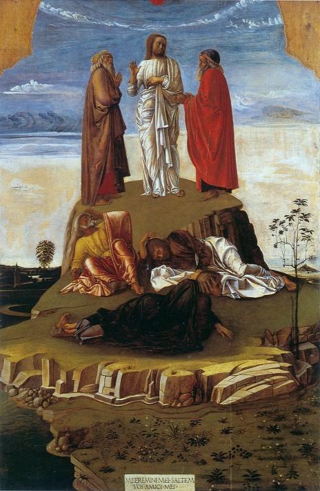 Джованни Беллини. Преображение Господне. Около 1455 года. Музей Коррер, Венеция.