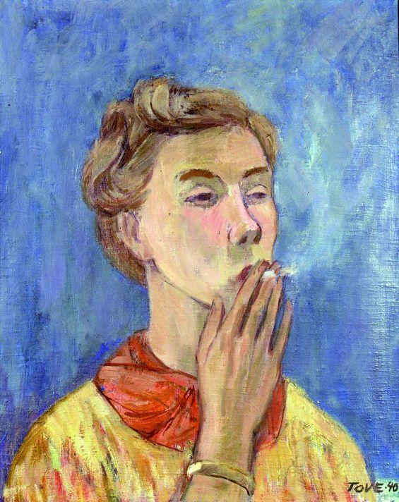 Туве Янссон. Автопортрет. 1990.