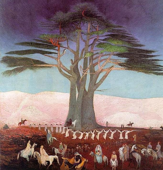 Чонтвари Костка (Csontváry Kosztka). Паломничество к ливанским кедрам (Zarándoklás a cédrusokhoz Libanonban), 1907