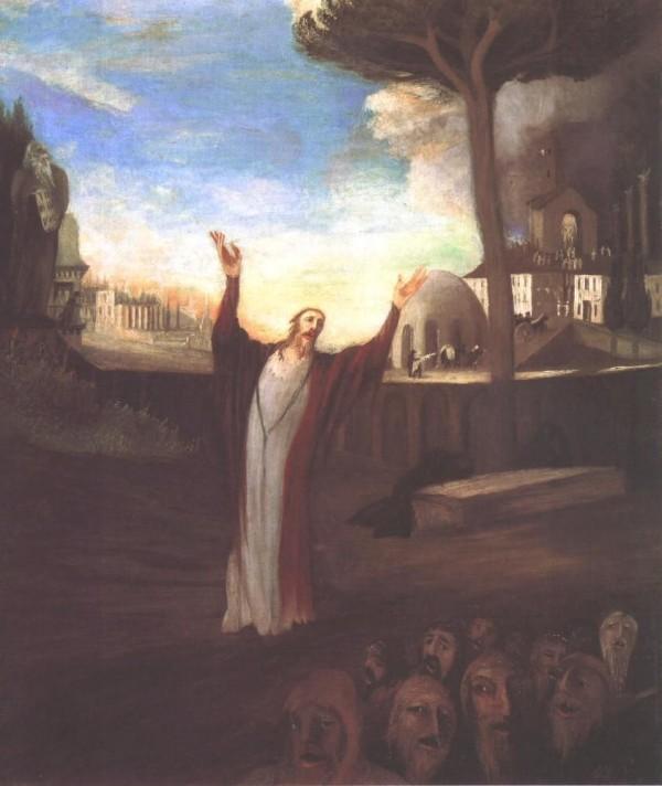 Чонтвари Костка (Csontváry Kosztka). Молитва Спасителя (Fohászkodó Üdvözítő), 1903