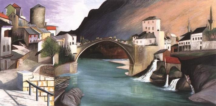Чонтвари Костка (Csontváry Kosztka). Римский мост Мостаре (Római híd Mosztarban), 1903