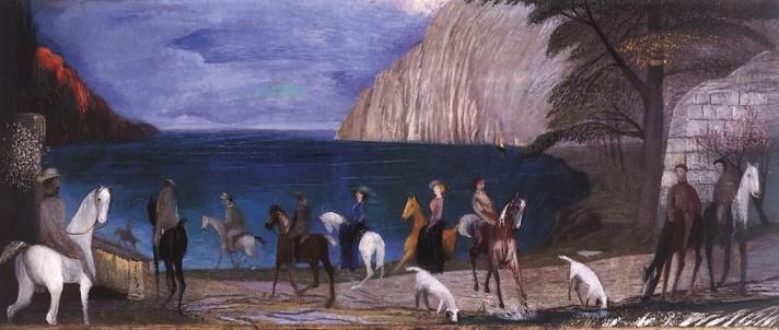 Чонтвари Костка (Csontváry Kosztka). Всадники на пляже (Lovasok a tengerparton), 1909